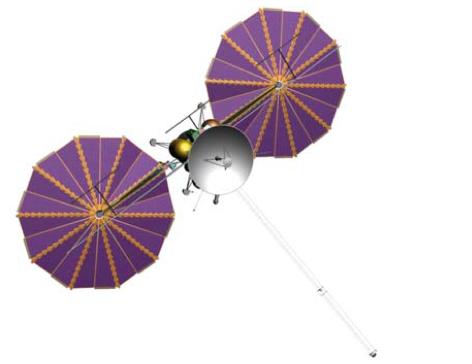 Propuesta de Europa Clipper de 2012 con paneles solares (NASA).