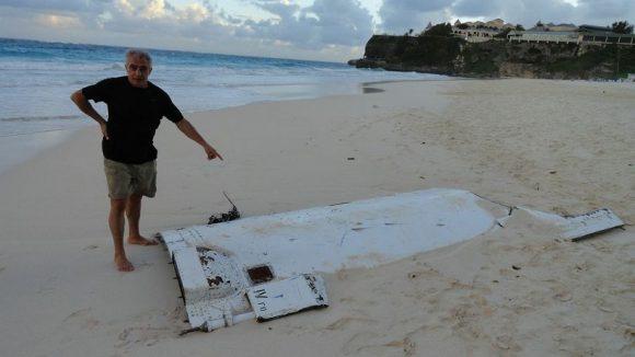 Cofia de un Soyuz ST lanzado en diciembre de 2012 desde Kourou con el  satélite Pléiades 1B que se encontró en las costas de Barbados (AFP).