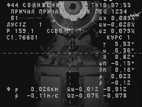 Imagen del módulo Pirs desde la Progress M-28M (NASA TV).