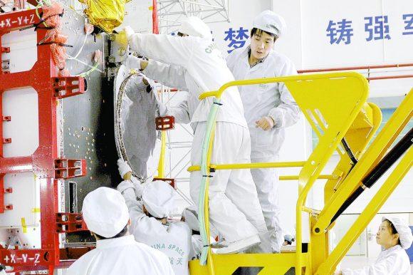 Uno de los primeros satélites Beidou 3 en construcción (CAST).