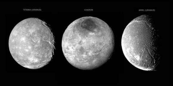 Los cañones de Caronte se parecen a los sistemas de fracturas que vemos en lunas de Urano como (NASA).
