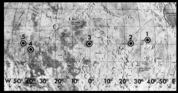 Los cinco ALS para la primera misión de alunizaje (NASA).