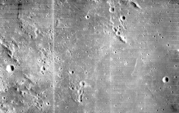 Zona ALS-1 (II P-2) vista por un Lunar Orbiter (NASA).