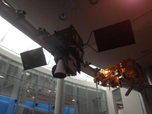 Una maqueta de un Meteosat de tercera generación (MTG) (Eureka).