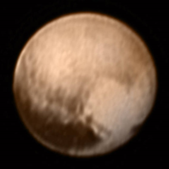 Plutón visto por la cámara LORRI de la New Horizons el 7 de julio de 2015 ( NASA/Johns Hopkins University Applied Physics Laboratory/Southwest Research Institute).