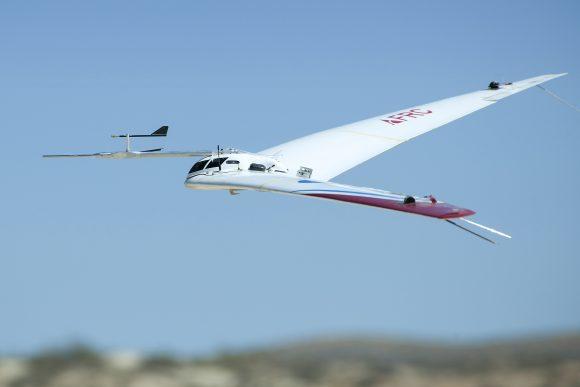 Prototipo Prandtl-d durante unas pruebas realizadas este mes de junio ().