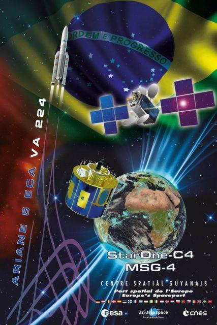 Póster del lanzamiento (Arianespace).