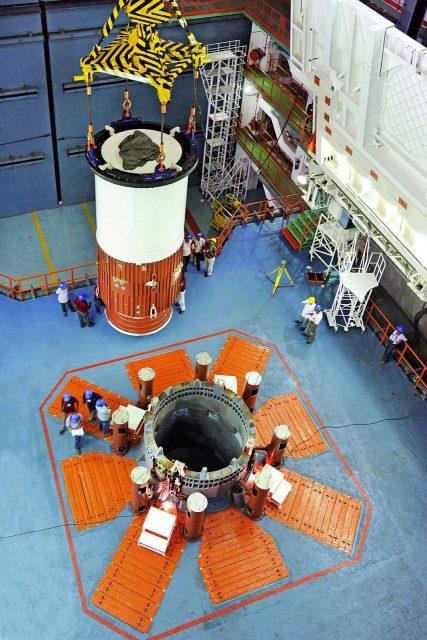 Integración de los segmentos de la primera etapa (ISRO).