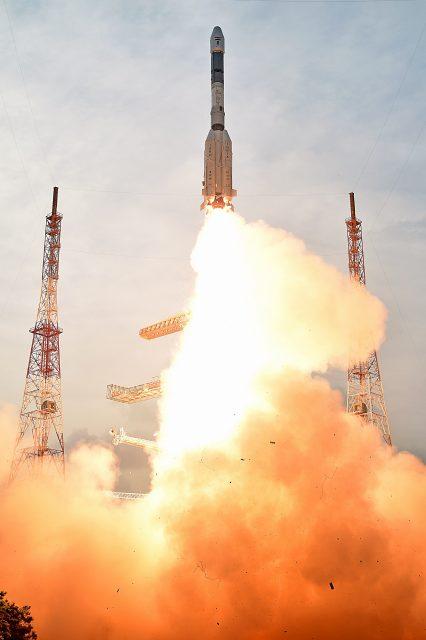 Otra imagen del lanzamiento (ISRO).