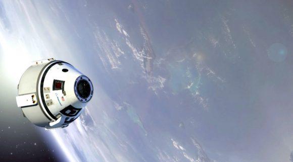 La CST-100 en órbita (Boeing).
