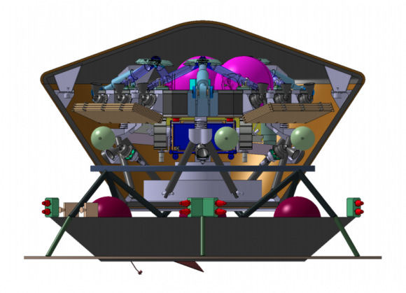 Diseño original de la cápsula MPL (ESA).