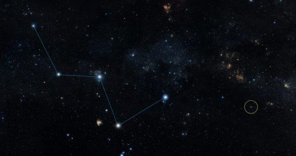 Posición en el cielo de HD 219134 (NASA).