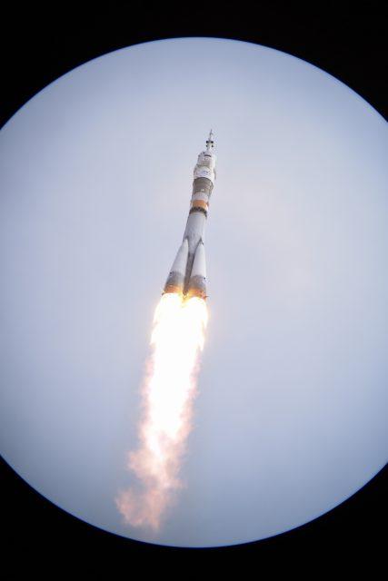Lanzamiento de la Soyuz TMA-18M (ESA).