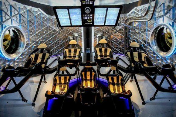 Interior de la Dragon 2 durante la presentación del año pasado (SpaceX).