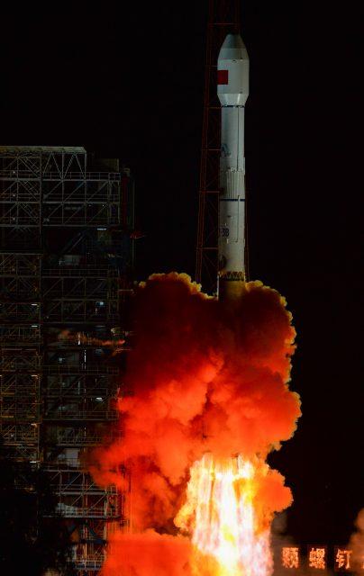 Lanzamiento del TSSW-1 (Xinhua).