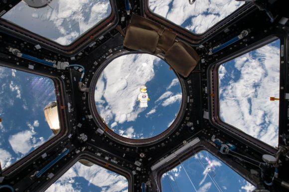 Un astronauta de LEGO que Mogensen llevó a la ISS (ESA).