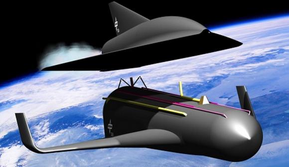 Separación de la primera etapa de SpaceLiner (DLR).
