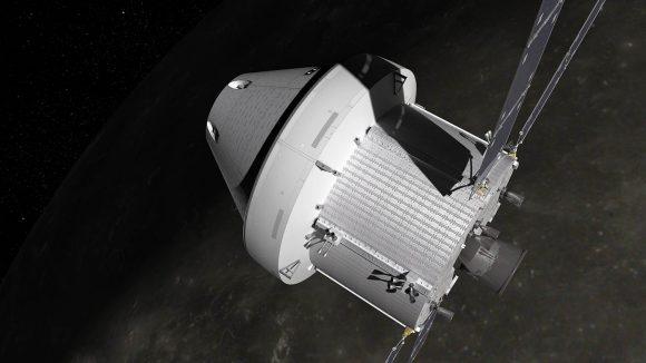 Nave Orión con el módulo de servicio europeo (NASA).