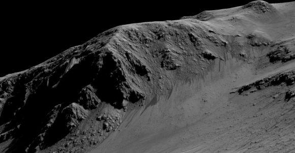 RSL vistas por la MRO en el cráter Horowitz (NASA/JPL-Caltech/Univ. of Arizona).