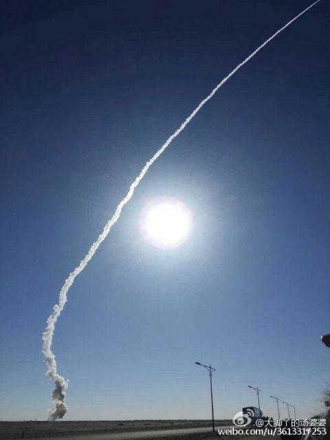 Primer lanzamiento del CZ-11 (Xinhua).