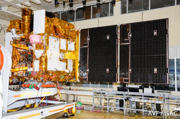 partial-view-of-astrosat-clean-room-with-its-solar-arrays-deployed-condition