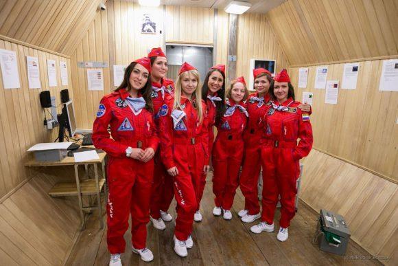 Algunas de las candidatas de la misión simulada Luna 2015 (IMBP).