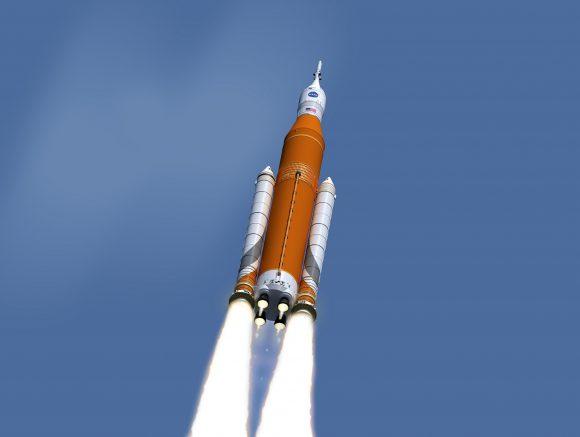 El nuevo y molón esquema de color del SLS (NASA).
