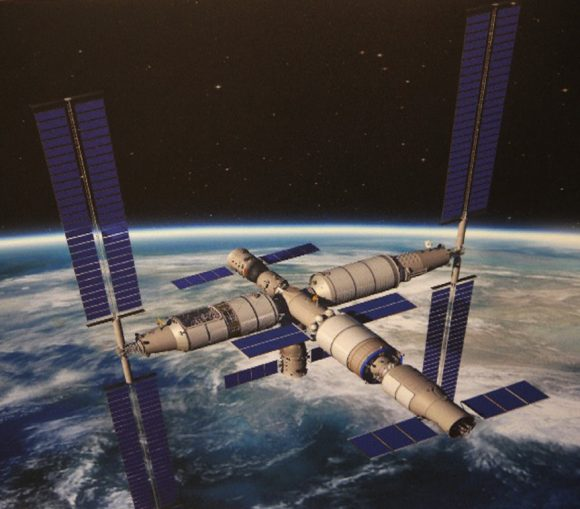 Estación espacial china de 60 toneladas.
