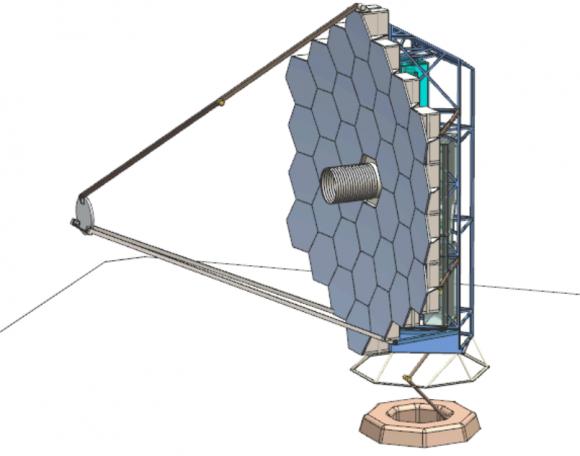 Diseño del espejo segmentado del HDST (AURA).