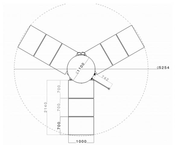 Dimensiones de CLEO (ESA).