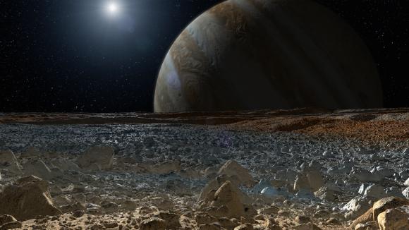 Representación de la superficie de Europa (NASA).