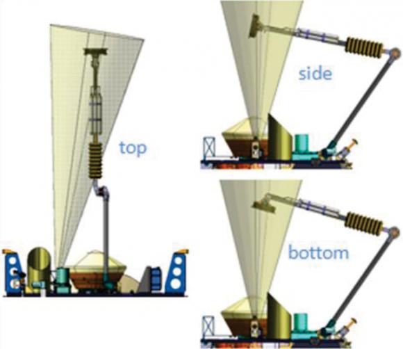 Mecanismo de carga de la cápsula con las muestras (NASA).