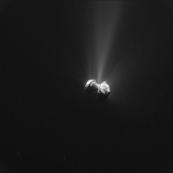 El cometa 67P visto por la cámara Navcam de Rosetta el 21 de septiembre de 2015 ( ESA/Rosetta/NavCam).