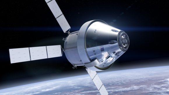 El nuevo aspecto plateado del escudo térmico de la cápsula Orión (NASA/ESA).