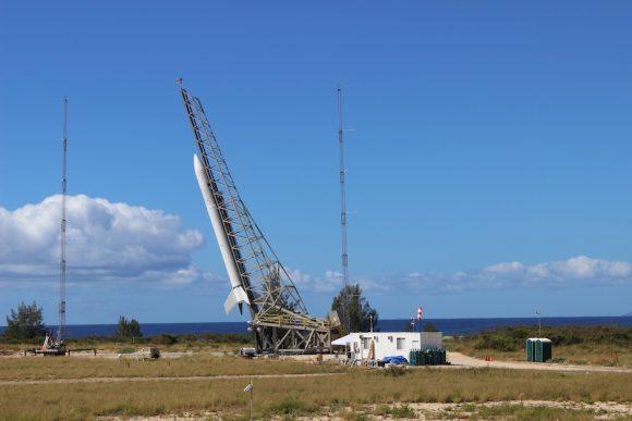 El Super Strypi en la rampa (Aerojet Rocketdyne).