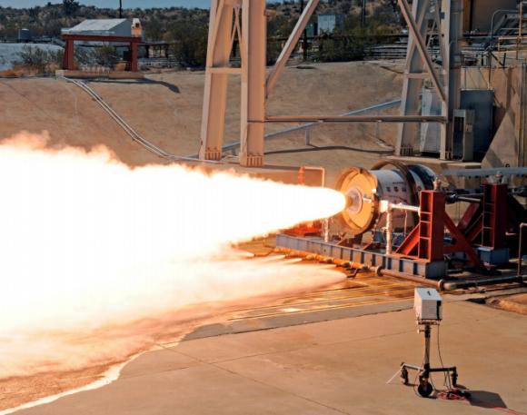 Prueba de la segunda etapa LEO-7 (Aerojet Rocketdyne).