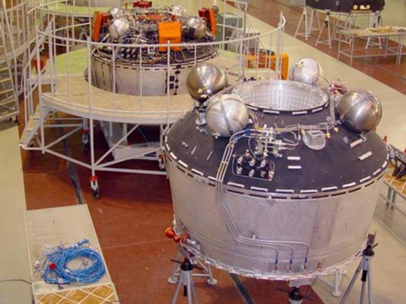 Etapa Briz-KM de un cohete Rokot, basada en la etapa Briz del programa Naryad (Eurockot).