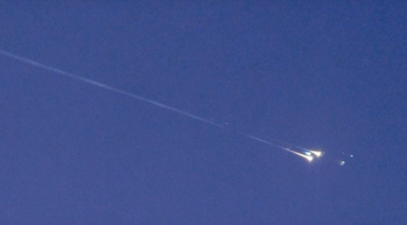 Reentrada del 'asteroide' WT1190F (NASA).