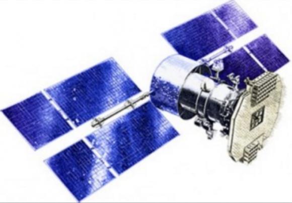 Posible aspecto de los satélites Garpún (Novosti Kosmonavtiki).