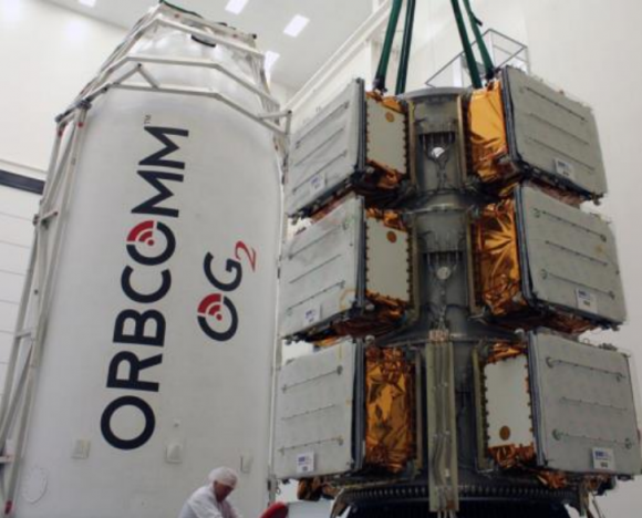 Los satélites Orbcomm de esta misión (SpaceX).