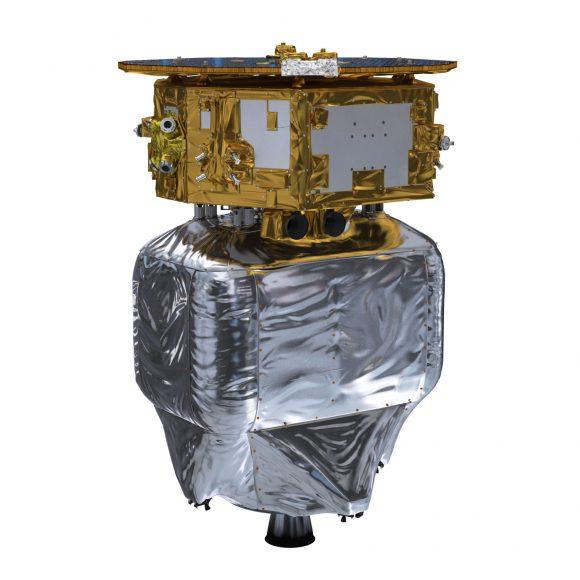 LISA Pathfinder acoplada al módulo de propulsión (ESA).