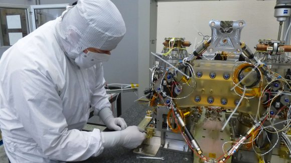 Interferómetro de LISA Pathfinder (ESA).