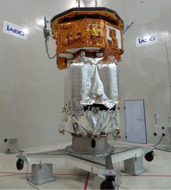 LISA_Pathfinder_in_acoustic_test_facility_during_set-up