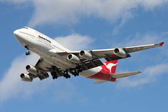 Un 747 de Qantas con un quinto motor (Reddit)