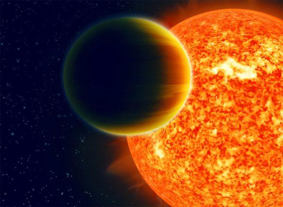 Representación artística de un júpiter caliente (Haven Giguere, Nikku Madhusudhan).