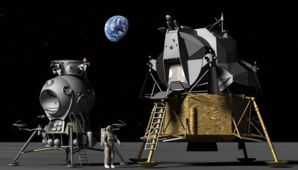 Comparativa entre el LK soviético y el LM de la NASA.