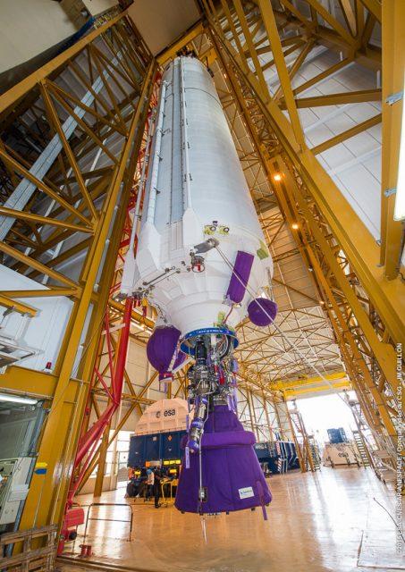 Etapa central EPC de la misión VA227 (Arianespace).