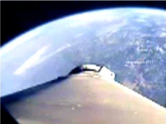 Vista de la Tierra desde la cámara del cohete.