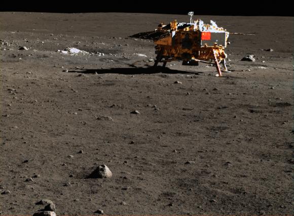 La Chang'e 3 en la Luna (http://moon.bao.ac.cn).