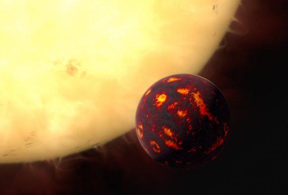 Recreación artística de 55 Cancri e (ESA/NASA/STScI).